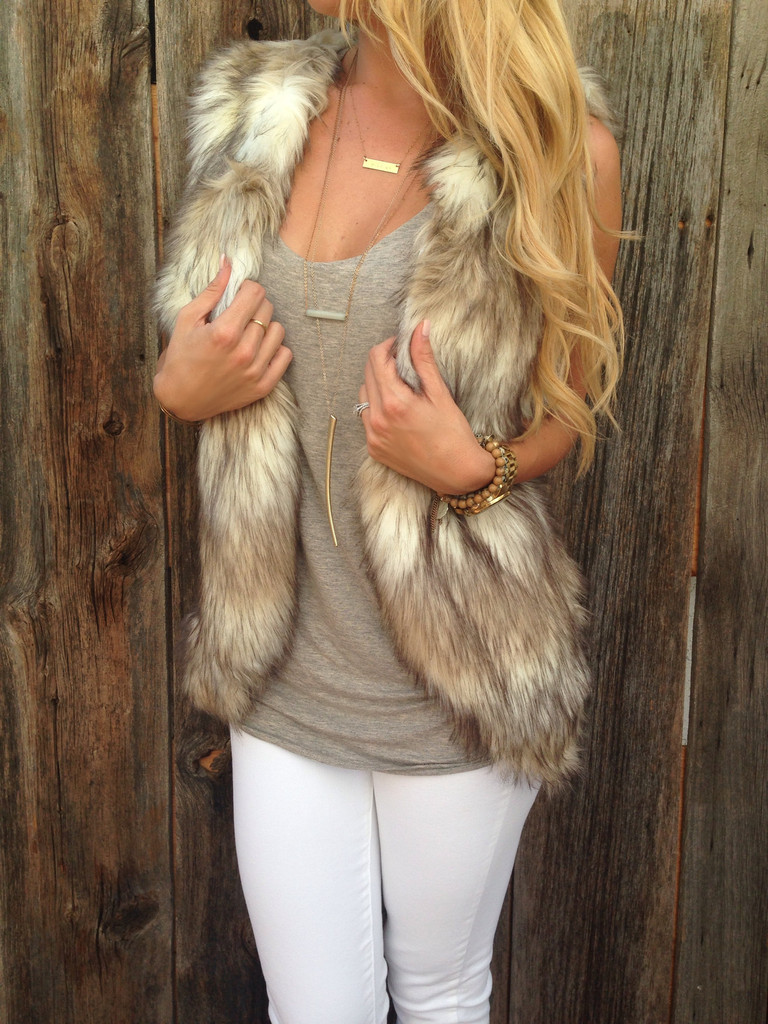 Find white faux fur vest at ShopStyle. Shop the latest collection of white faux fur vest from the most popular stores - all in one place.