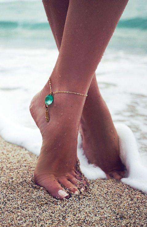 Gemstone anklet