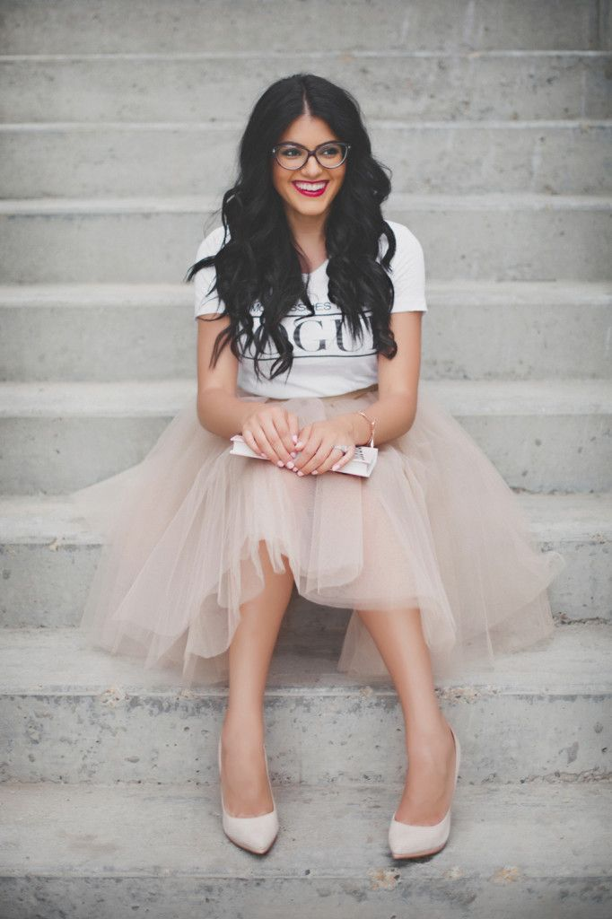 Graphic tee and tulle