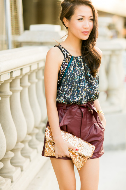 Great shorts and sequins for summer