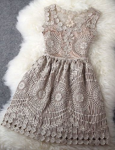 Grey vintage embroidery