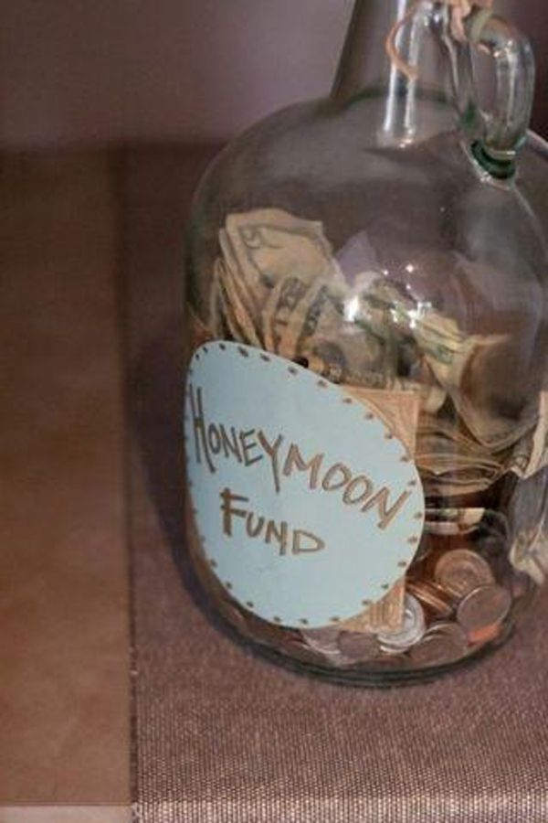 Honeymoon money jar
