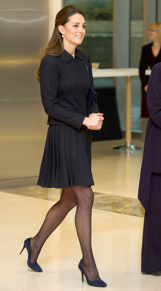 Kate Middleton's Elegant Pleated Skirt