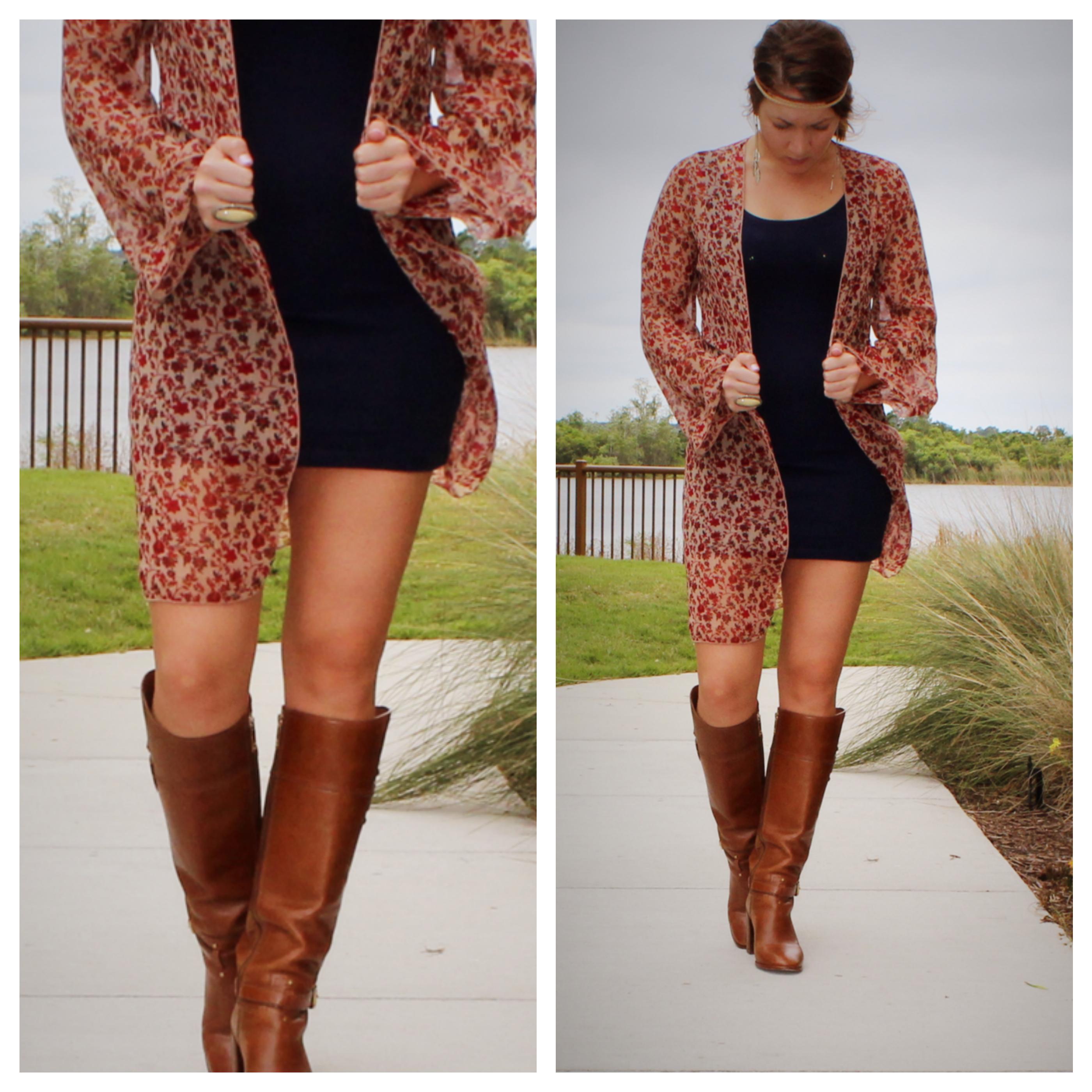 Kimono and boots