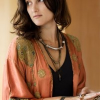 Kimono and layered necklaces
