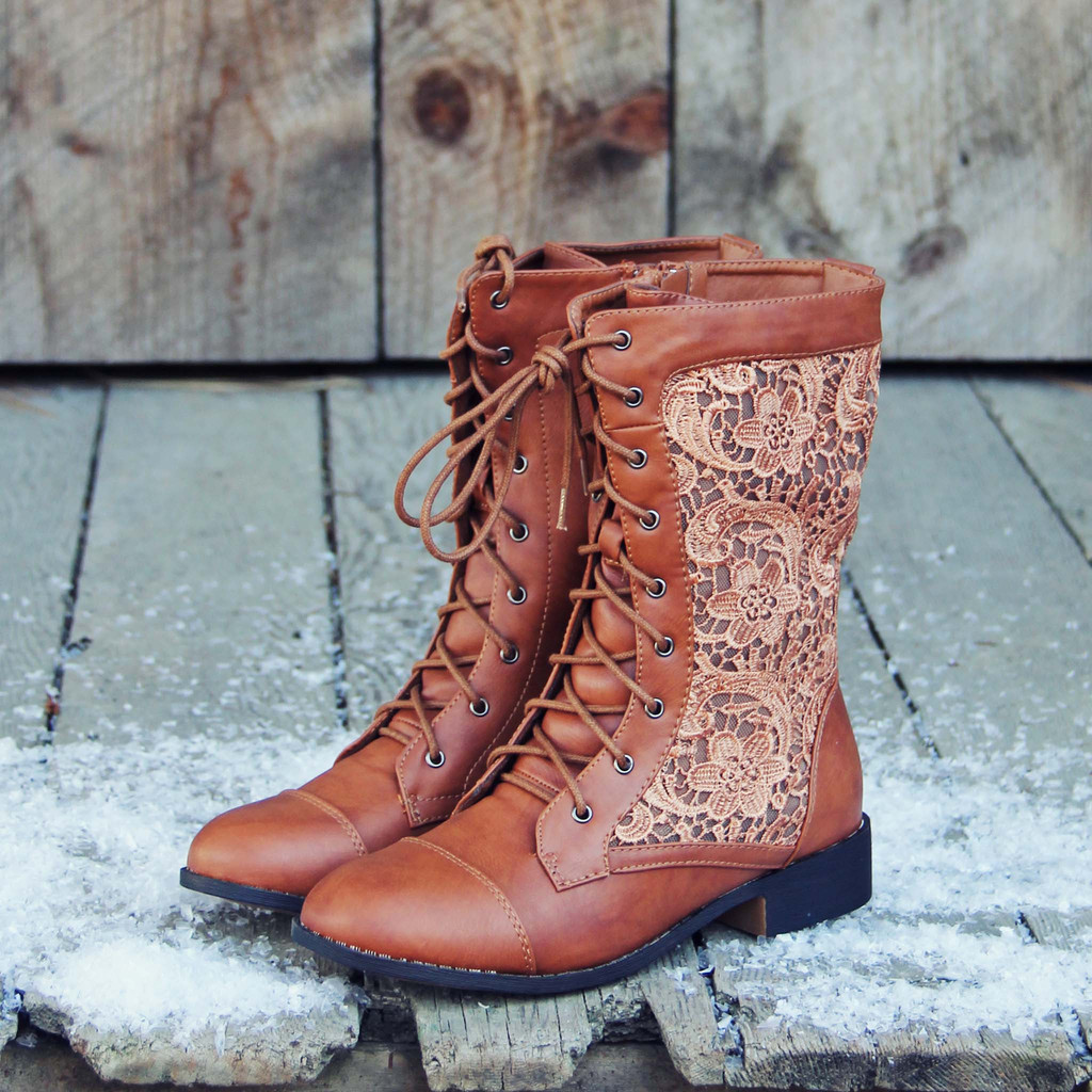 Lace hiker boots