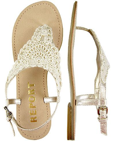 Lace thong sandals