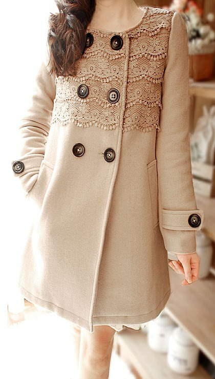 Lace winter coat