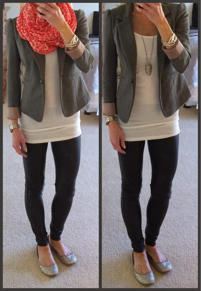 Leggings and a blazer