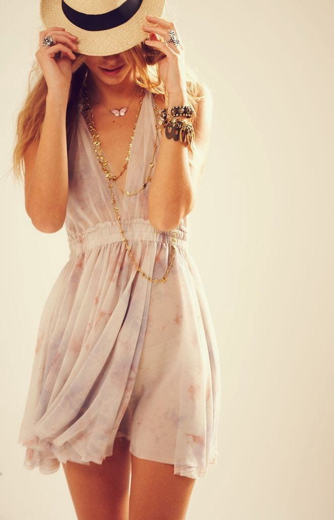 Low V-neck sundress