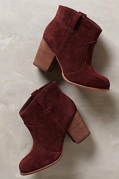 Marsala booties
