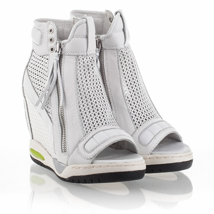 Mesh wedge sneakers