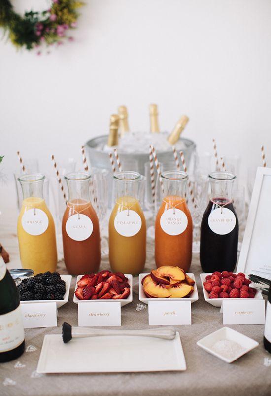 Mimosa drink bar
