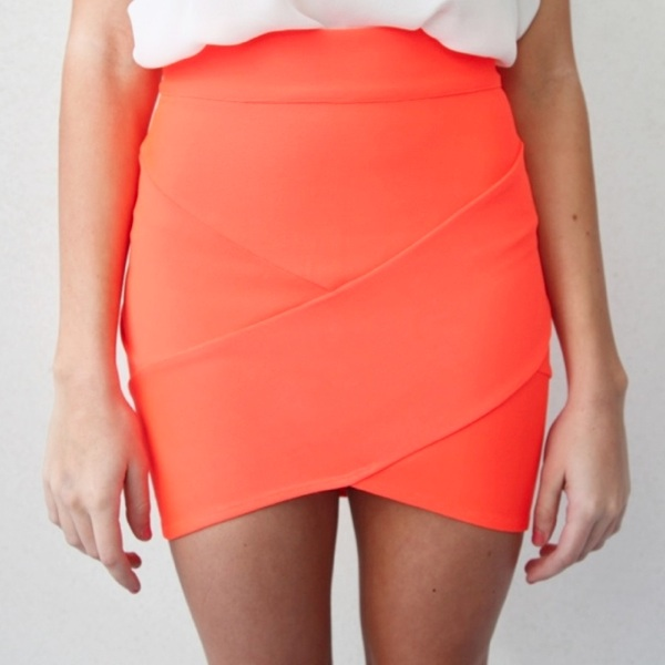 Neon tube skirt
