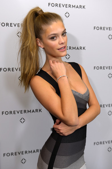 Nina Agdal's Lively High Ponytail
