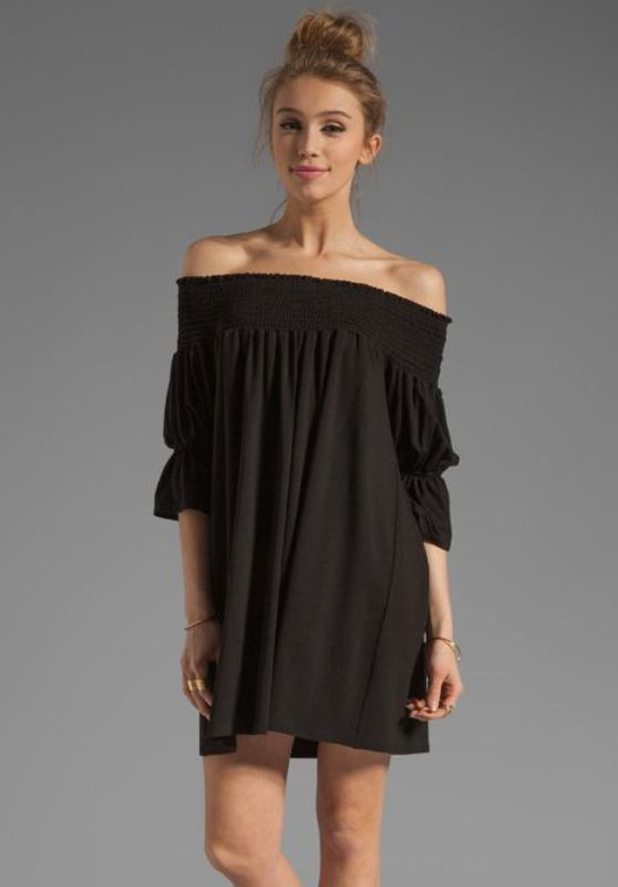 Off-shoulder dress