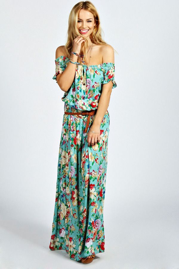 Off Shoulder Fl Maxi Dress 20 Wonderful Looks For A Beach Wedding As Guest Styles Weekly