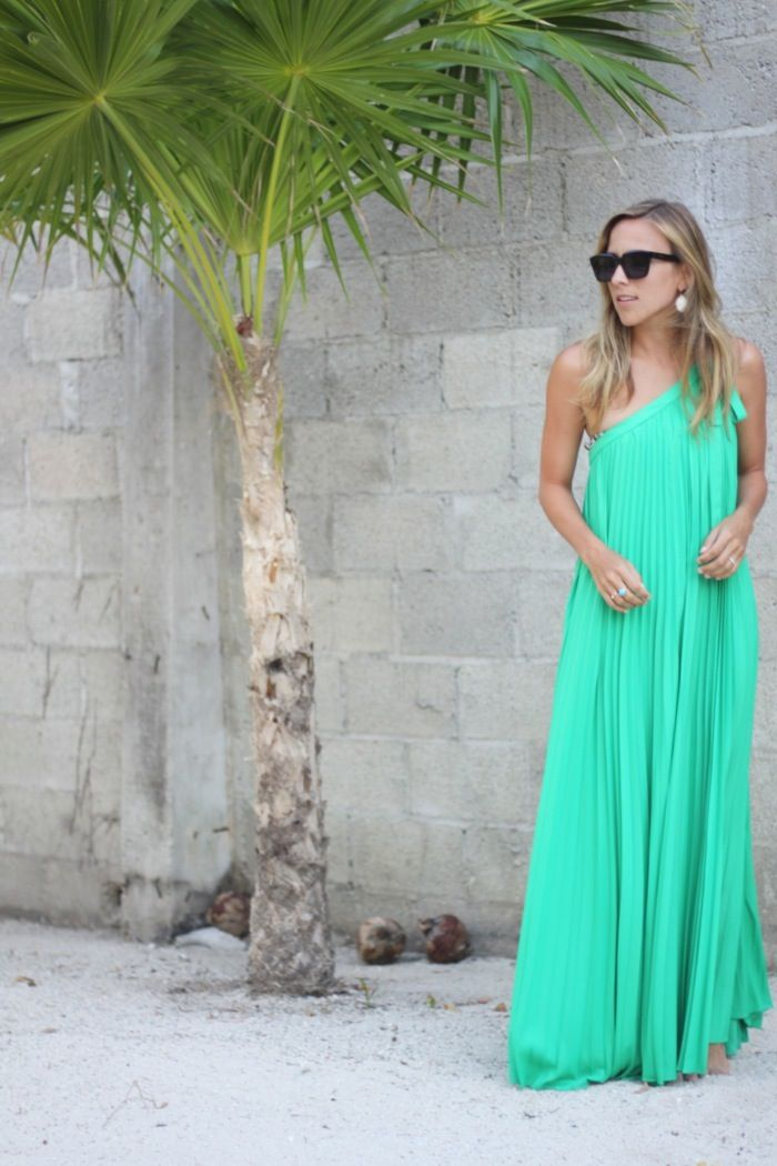 One-shoulder maxi dress