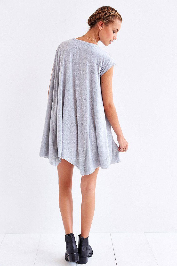 Oversized short sleeve dress