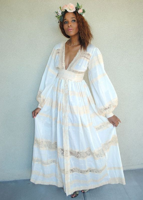 Pastel-colored Bohemian dress