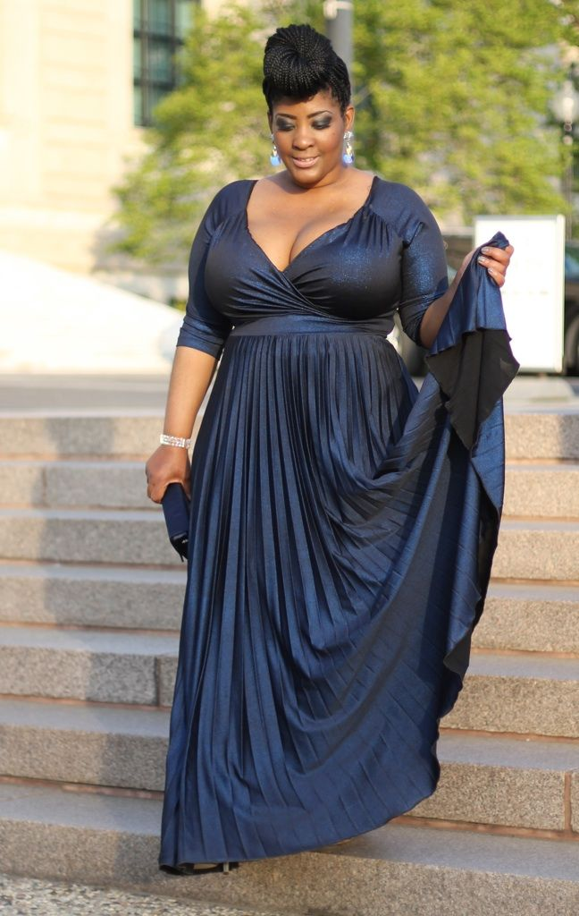 Pleated evening gown