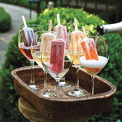 Popsicles and champagne