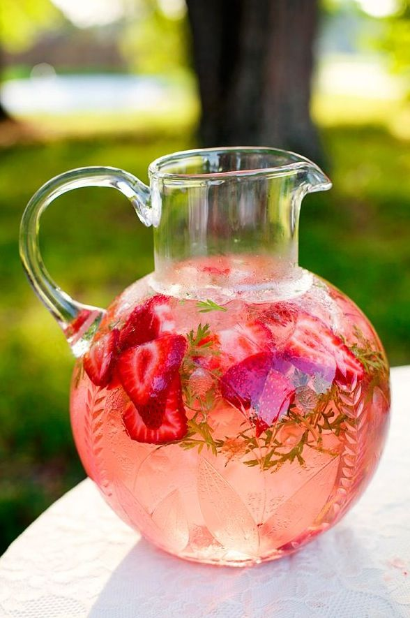 Pour some sparkling strawberry lemonade