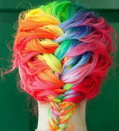 Rainbow fishtail