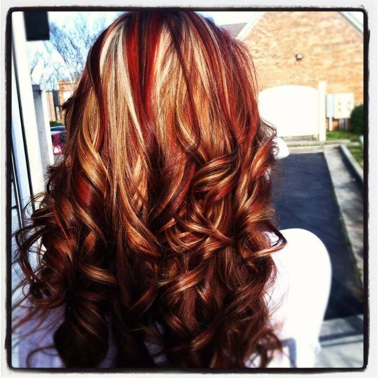Red and white highlights