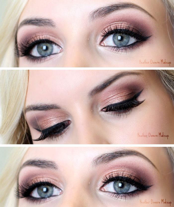Makeup Styles For Blue Eyes Prom Rose Gold Eye Makeup For Blue