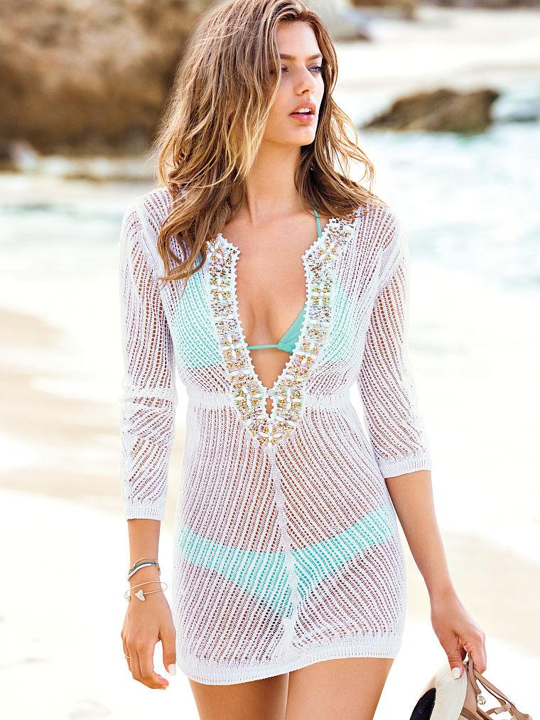 Sheer mesh Boho tunic