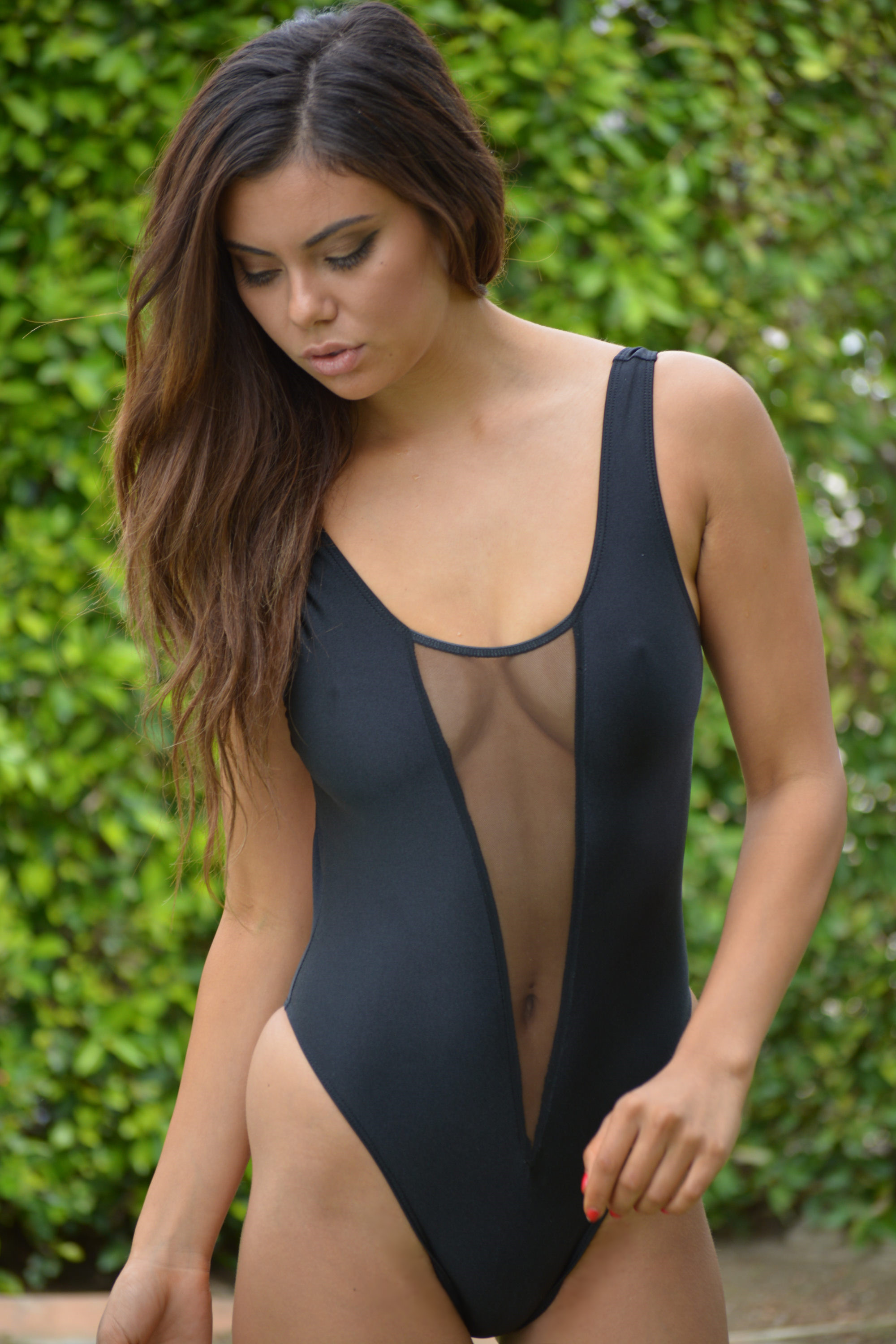 Sheer swimsuit