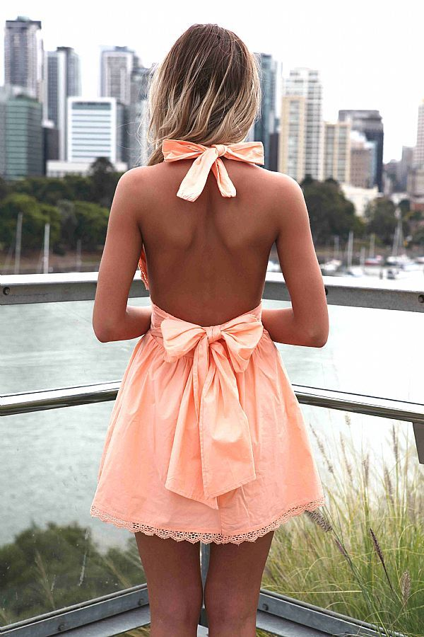 Short halter dress