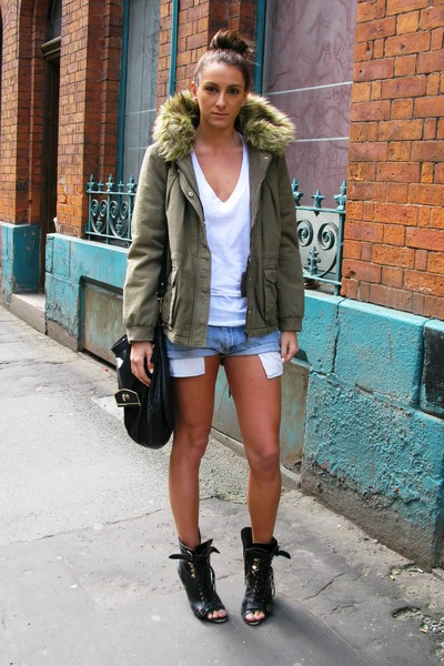 Shorts and a coat