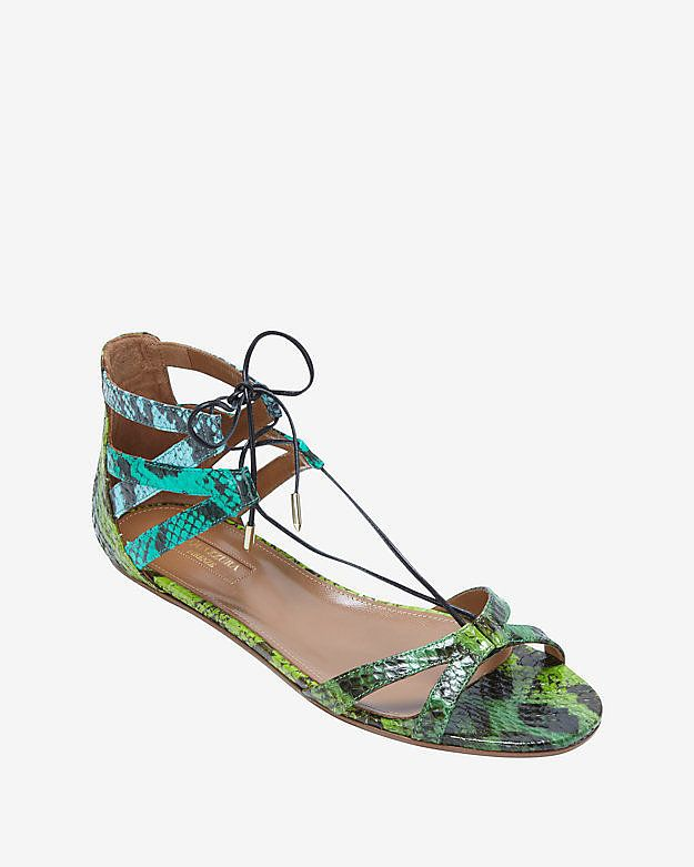 Snakeskin (flat) sandals