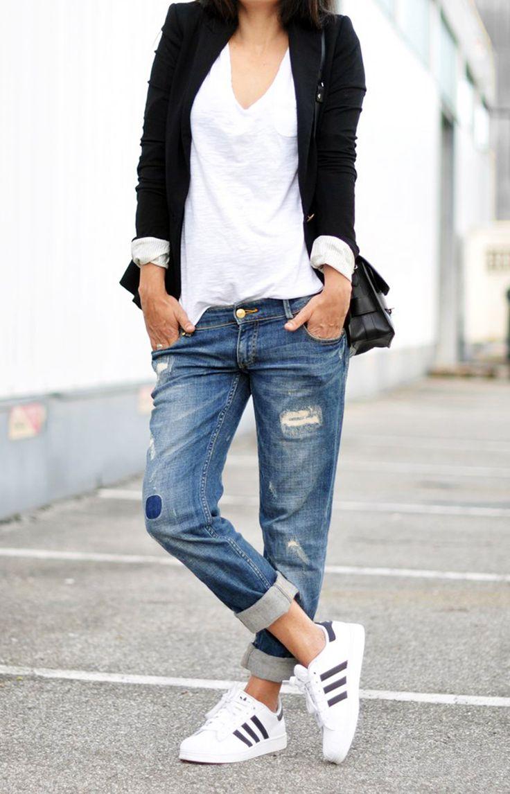 Some boyfriend jeans