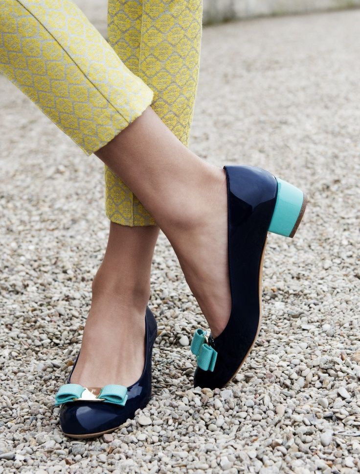 Stacked kitten heels