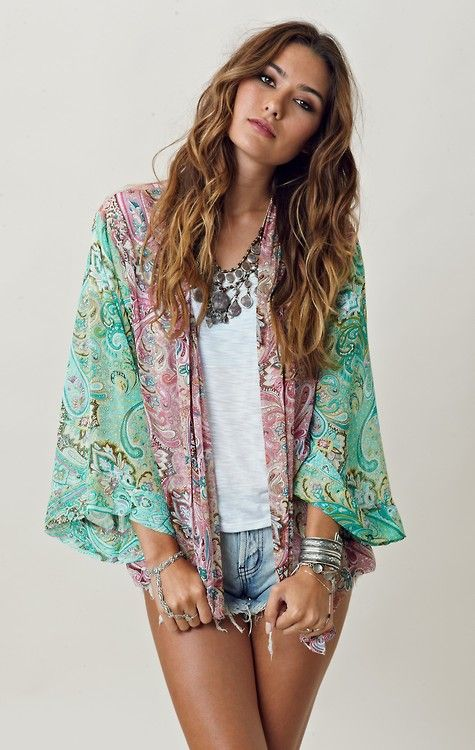 Tank and kimono jacket