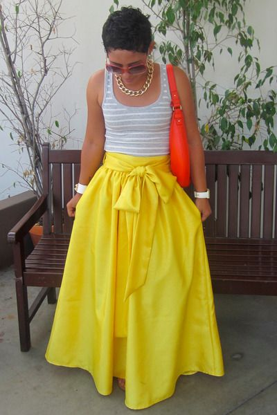 Tank and maxi skirt