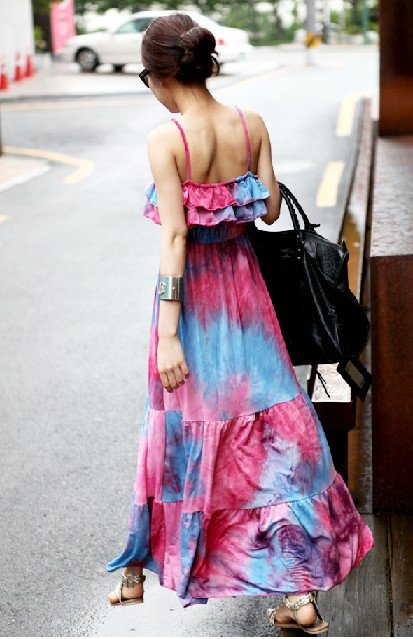 Tie dye Boho-inspired dress