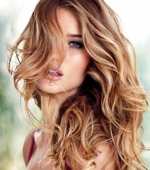 Tousled hair