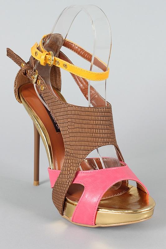 Tri-color heels