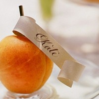 Try a fruit place card holder