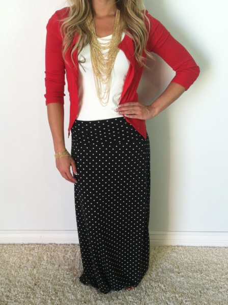 Try a maxi skirt