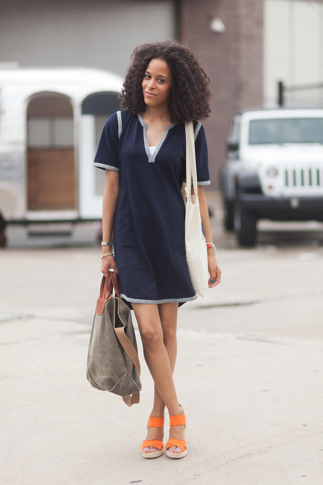 Tunic-inspired tee dress
