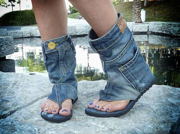 (Upcycled) denim shoes