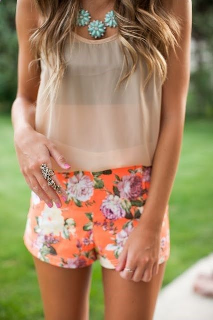 Wear some floral shorts