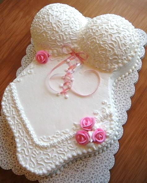 Wedding night lingerie cake