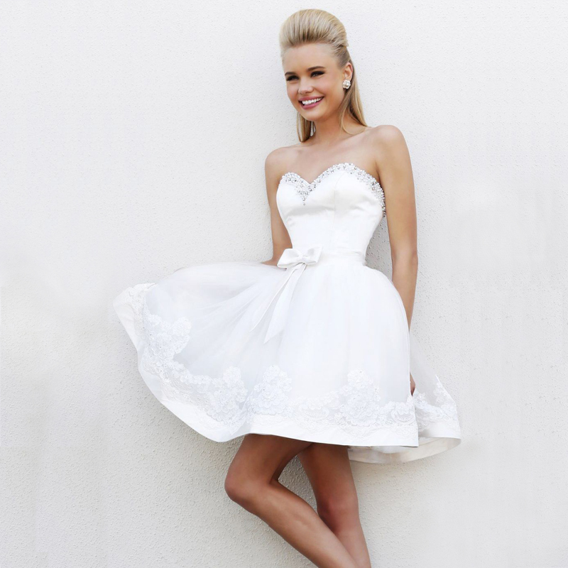 White with a sweetheart neckline