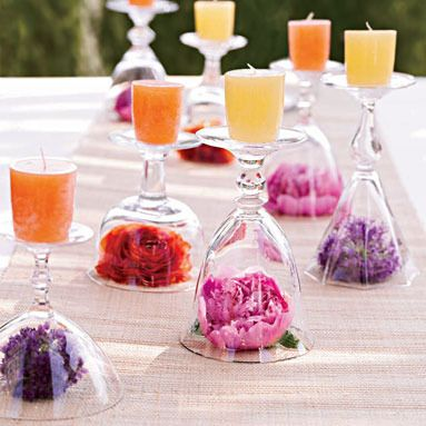 Wine glass table settings